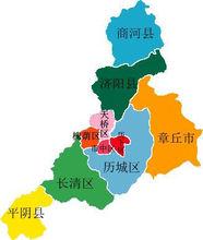 济南市行政区划图