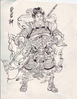 凤凰门简笔画