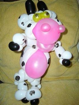 长条气球可以通过快速造型,在几秒钟内完成一个可爱的动物造型.