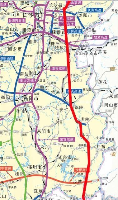 接广东粤湘高速公路