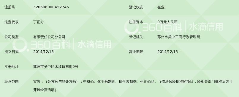 苏州健生源医药连锁有限公司吴中区木渎木东药