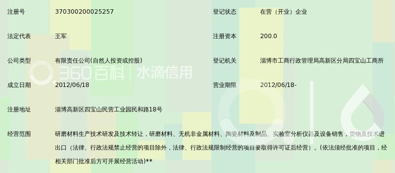 淄博和润研磨材料科技有限公司_360百科
