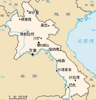 老挝南塔省地图