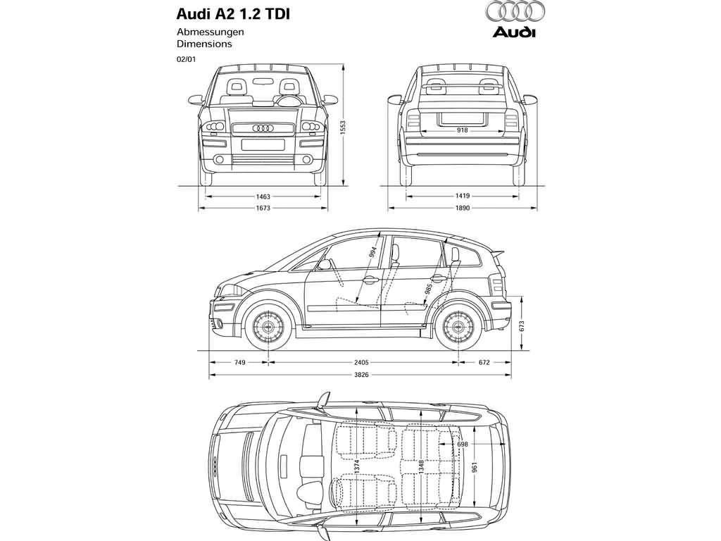 从A2起奥迪开始涉足低档小轿车系列。从外形上看,这种小型汽车以其拳头样的车鼻子和前部很圆、而到尾部突然变得有棱有角的车顶使人惊叹不止。这种独特的车身设计使得其空气阻力系数只有0.28,这是同级别车中最好的记录。  第二个优点是它完美地充分利用了经过改进的车内空间--任何一种汽车都没有能够像它一样在3.