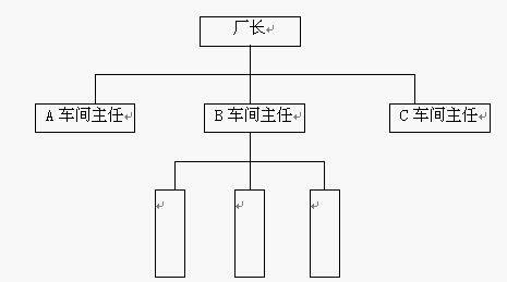 直线型组织结构
