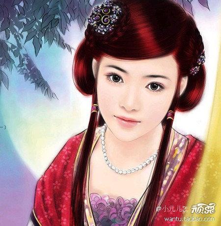 【引用】《伊人红妆》古装美女素材2组.