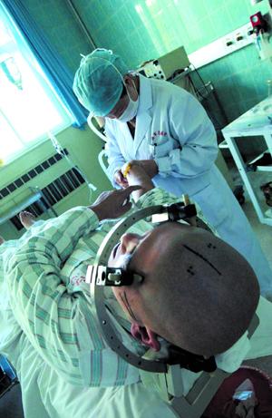 然而对于一些特殊疾病,如帕金森病,癫痫等,实施开颅手术还是很有必要.图片