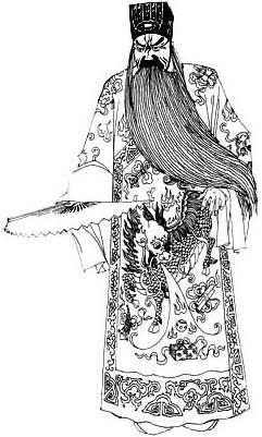 王者荣耀曹操手绘黑白