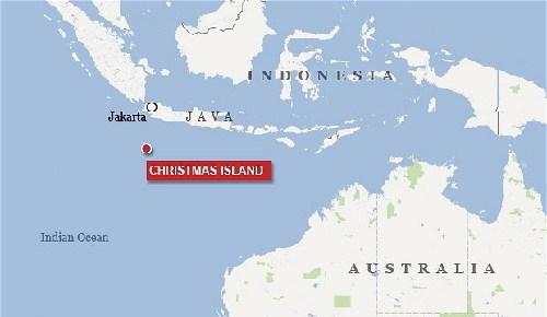 澳大利亚圣诞岛地图