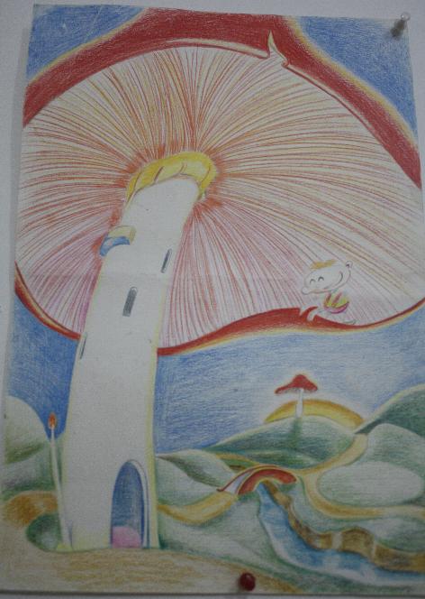 幼儿画雨伞步骤图片