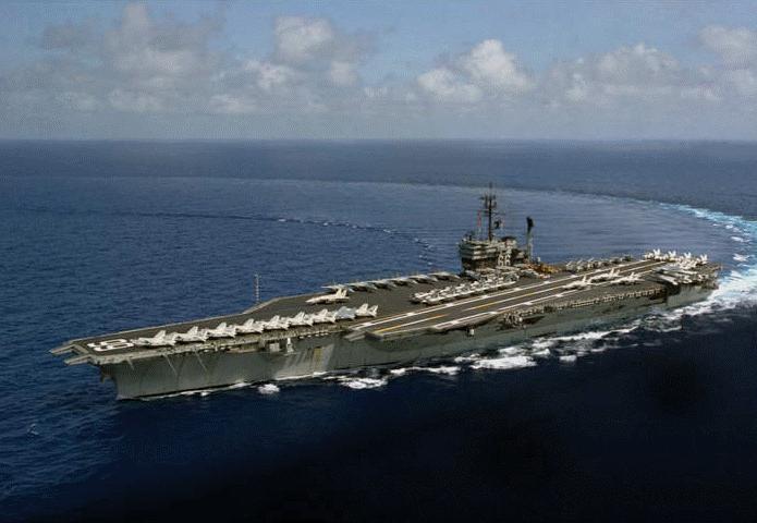 美国航母飞机坠海