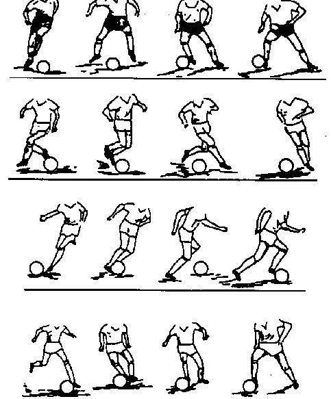 关于足球手绘画