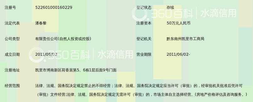 黔东南州磁力线房地产评估有限公司_360百科
