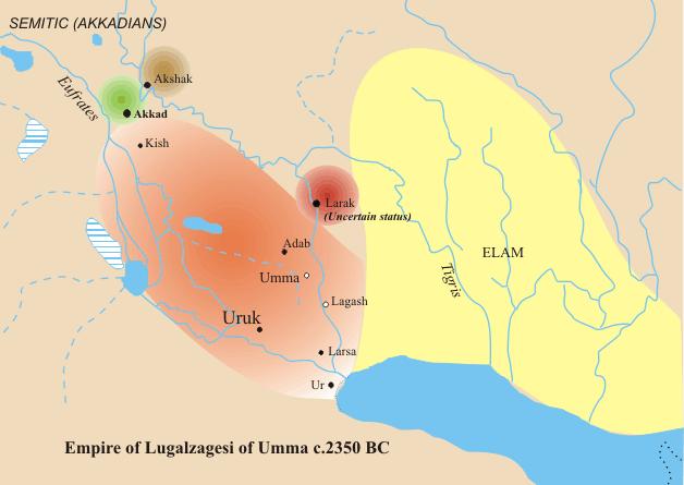 """在尼普尔发现的铭文中,他自称统治了自""""下海""""(波斯湾)至""""上海""""(地中海"""