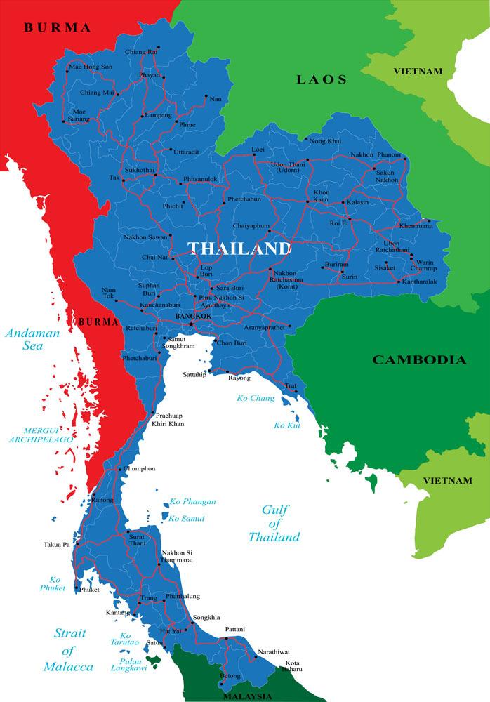 泰国 印度 地图