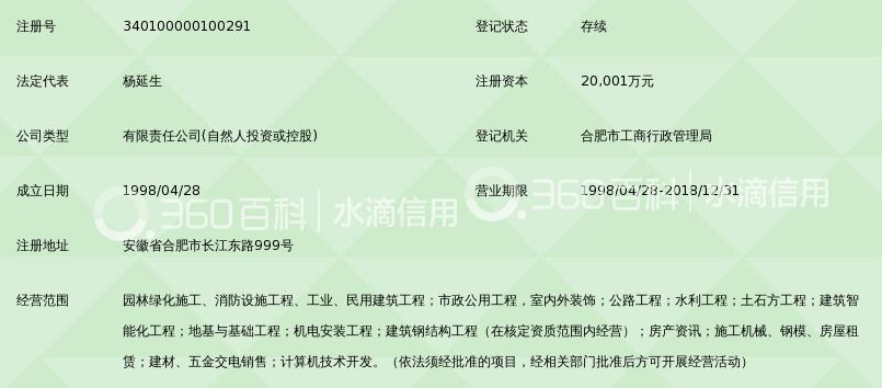 安徽凯源建设集团有限责任公司_360百科